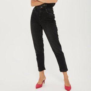 Topshop Mom Jeans Black Size 30